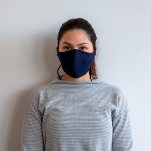 Woman with Colan PAM face mask looking forward